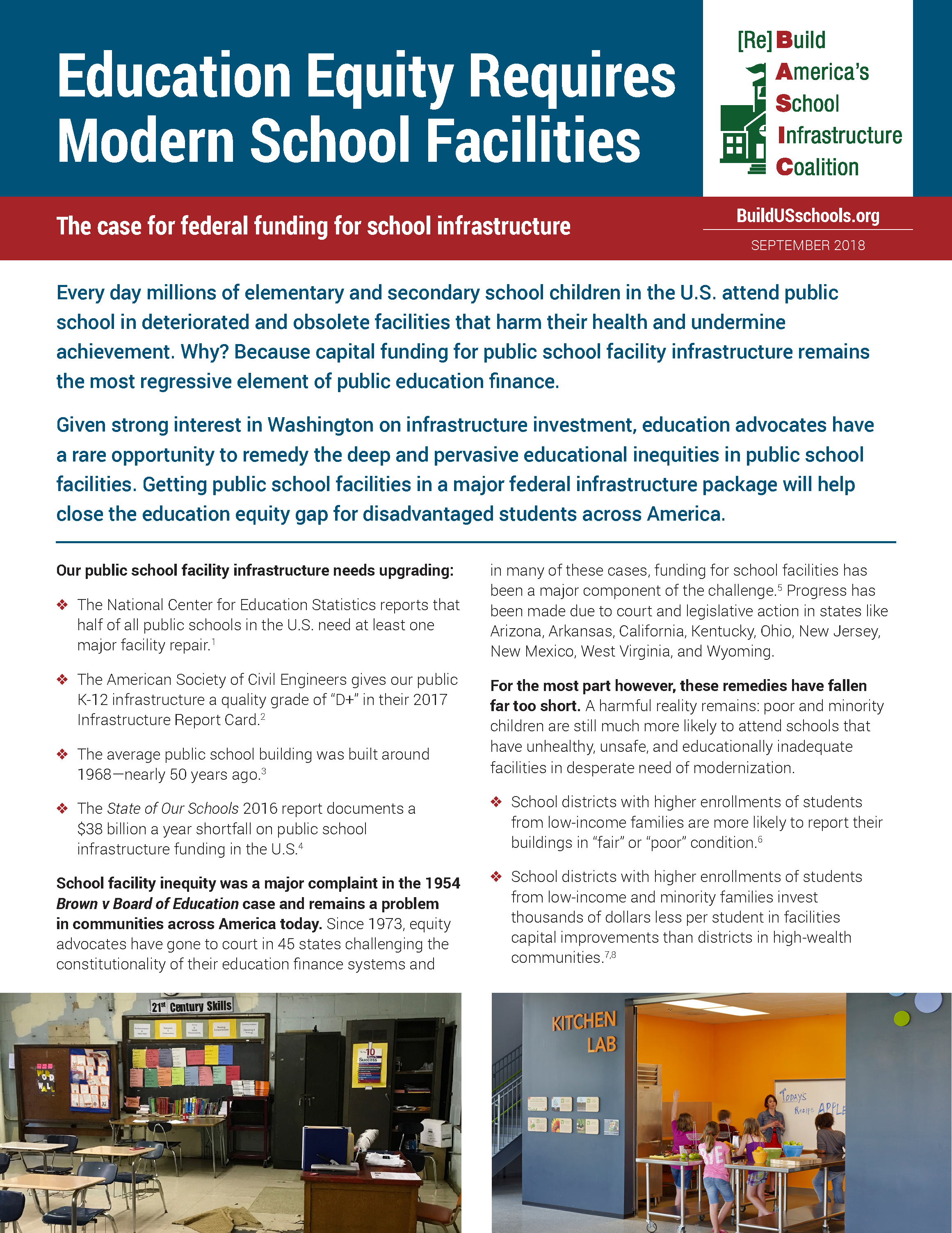 6a2be38165e EDUCATION EQUITY REQUIRES MODERN SCHOOL FACILITIES: THE CASE FOR FEDERAL  FUNDING FOR SCHOOL INFRASTRUCTURE
